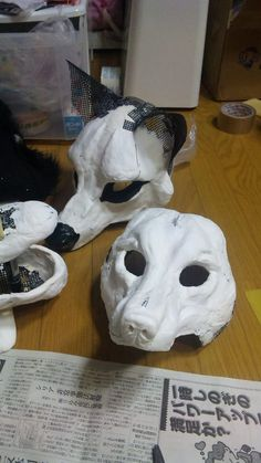 Head wolf plâtre