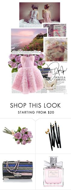 """sweet dreams are made of this, who am I to disagree?"" by haute-fashionista ❤ liked on Polyvore featuring Bobbi Brown Cosmetics, Chanel, Christian Dior, Maria Lucia Hohan, Bouquets, bathroom, country, colour and cute"
