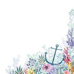 Sea Mermaid Anchor Scrapbook Paper