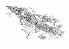 An poster sized print, approx mm) (other products available) - Hawker Siddeley Harrier Cutaway Drawing - Image supplied by FlightGlobal - poster sized print mm) made in the UK Fine Art Prints, Framed Prints, Canvas Prints, Drawing Frames, Cutaway, Fine Art Paper, Poster Size Prints, Photo Puzzle, Photo Gifts