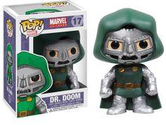 Cabezón Dr. Doom 10 cm. Línea POP! Marvel Cómics. Funko Estupendo cabezón del Dr. Doom de 10 cm perteneciente a la línea POP! Marvel, fabricado en material de vinilo y por supuesto 100% oficial y licenciado. Perfecto para regalar a cualquier fan.