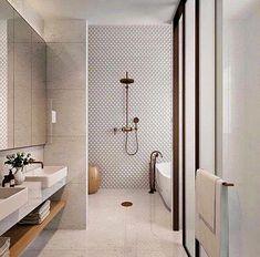 neutral bathroom bathroom, Great Minimalist Modern Bathroom Ideas - Home of Pondo - Home Design Contemporary Bathroom Designs, Bathroom Tile Designs, Bathroom Layout, Bathroom Interior Design, Small Bathroom, Bathroom Mirrors, Bathroom Cabinets, Dyi Bathroom, Serene Bathroom