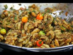 Learn how to make Geera (cumin) Shrimp with simple step by step instructions from Gourmand Award winning Caribbean cookbook author, Chris De La Rosa of. Fusion Food, Trinidad Recipes, Jamaica Food, Trini Food, Hot Pepper Sauce, Caribbean Recipes, Scampi, Stuffed Hot Peppers, Fish And Seafood