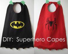 Superhero diy capes.