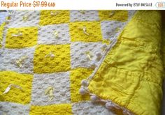 Baby blanket  crocheted baby blanket  crib by NewtoUVintage