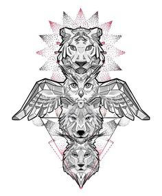 Explore collection of Owl Totem Pole Drawing Wolf Tattoos, Elephant Tattoos, Lion Tattoo, Animal Tattoos, Totem Pole Drawing, Totem Pole Tattoo, Spirit Animal Totem, Animal Totems, Wolf Tattoo Sleeve
