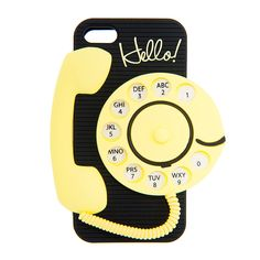 3D Silicone Rotary Telephone Cover for iPhone 5, 5s and 5c | Claire's....adorable!!!