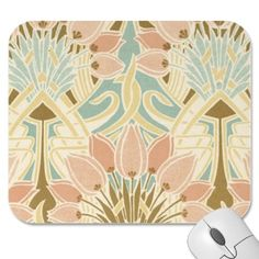 art nouveau nature floral pattern art mouse pads
