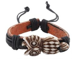 Light Brown Owl with Black Leather Adjustable Bracelet JOTW. $0.01. Great Quality Jewelry!. 100% Satisfaction Guaranteed!