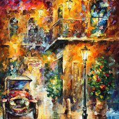 "Memories Of Stories — PALETTE KNIFE Landscape Oil Painting On Canvas By Leonid Afremov - Size: 30"" x 40""(75cm x 100cm)"