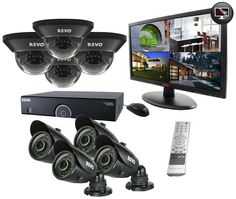 REVO America 16 Channel DVR Surveillance System with 8 Night Vision Cameras and Monitor (Black) * To view further for this item, visit the image link. Best Home Security Camera, Wireless Home Security Cameras, Best Home Security System, Security Camera System, Video Surveillance Cameras, Surveillance Equipment, Security Surveillance, Surveillance System, Best Waterproof Camera