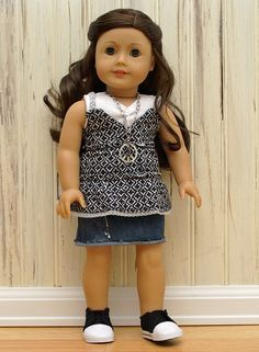 "Summer Days-Made to fit 18"" American Girl Doll."
