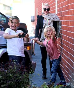 Gwen Stefani beamed as her boys Kingston and Zuma goofed off during a visit to the Kidspace museum in Pasadena, Calif. April 3.