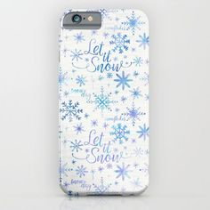 Let It Snow Winter Pattern iPhone & iPod Case by Noonday Design | Society6