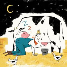 """""""Drinking cow's milk produced at night may be a treatment for anxiety and insomnia, suggests an animal study in the Journal of Medicinal Food.... Night milk is rich in tryptophan, a sleep-inducing compound, and melatonin, a hormone that regulates the sleep-wake cycle, the study said."""" I wonder if the same effect can be seen with human breast milk on infants?"""