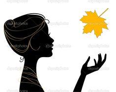 female profile silhouette - Google Search