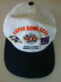 NFL Ravens V Giants Super Bowl Baseball Cap Tampa Florida Jan 28 2001 Adjustable | eBay