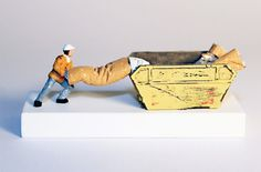filthy habit - nic joly [from 'under foot', miniature sculptures in small-scale narratives]