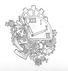 SUPER in love with this clock tattoo idea. LOVE the gears and best of all its set to 11:11... <3 <3 <3