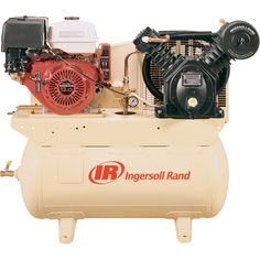 FREE SHIPPING — Ingersoll Rand 25 CFM @ 175 PSI, 13 HP Horizontal Air Compressor with Alternator, Model# 2475F13GH | Gas Powered Air Compressors| Northern Tool + Equipment