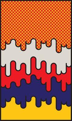 """Hippie art embodies the vibe ... """"Lichtenstein"""" homage by John Tibbott."""