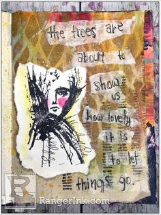 The Trees Show Us by Carisa Zglobicki Art Journal Prompts, Art Journal Pages, Art Journals, Watercolor Background, Watercolor Paper, Ranger Ink, Canvas Paper, Show Us, Mixed Media Artists