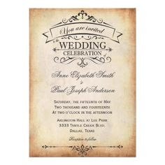 very pretty, almost card-like invite | wedding ideas | pinterest, Einladungsentwurf