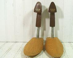 Vintage Wood & Metal Adjustable Shoe Tree Forms   by DivineOrders, $13.00