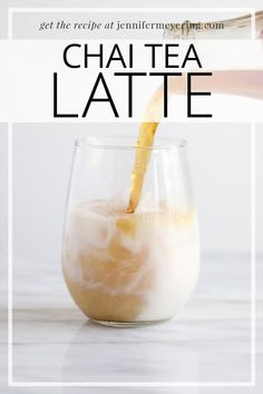 Chai Tea Latte - Have your Chai Tea anytime with the simple Chai Tea concentrate to make all your favorite Chai drinks! Iced Chai Tea Latte, Iced Coffee, Tea Recipes, Drink Recipes, Cooking Recipes, Chai Tea Recipe, Protein Shake Recipes, Protein Shakes, Bariatric Eating