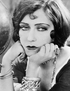 Gloria Swanson in Sadie Thompson (1928). Hollywood's history, extraordinary beauty of that time. Had a hippie/ gypsy style off camera... Different compared to other women.