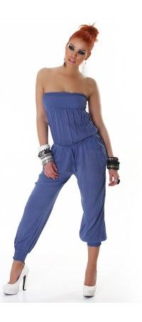 Blue long overall