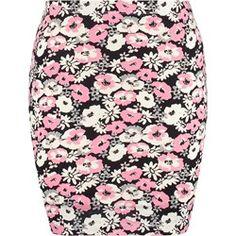 Even&Odd Spódnica mini black/pink