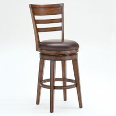 Villagio Ladder Back Swivel Bar Stool Hillsdale Furniture   Wooden Bar Height Swivel Kitchen Bar Stool