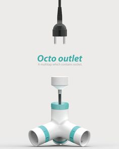 The Octo is a multi-tap and an extension cord. It features retractable cables and extending sockets that allow you to easily hook up multiple devices. Designers: Youngho Yun & Hyungsub Lee | via Yanko Design