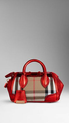 e4303b891e00 The Small Blaze in Check and Metallic Leather
