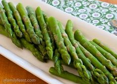 How to Cook Perfect Asparagus - followed directions as written (cut tough ends off, boiled water, put asparagus in, took it out after 2 minutes and put directly into ice water). It was cooked thru perfectly. I give this a 5!