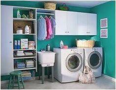 Cuarto de lavado organizado!