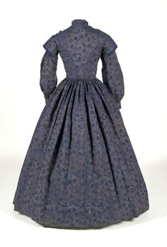 Day dress ca. 1845-55    From the Indiana State Museum back