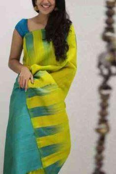 Indian Silk Sarees, Silk Cotton Sarees, Indian Beauty Saree, Cotton Saree Designs, Saree Blouse Neck Designs, Hijab Outfit, Cutwork Saree, Saree Jewellery, Silk Saree Kanchipuram
