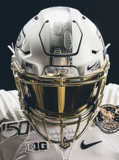 """""""The school that educated 25 astronauts and two moon men, Neil Armstrong & Gene Cernan, gives us the Uniform Of The Year for Homecoming this Saturday: Take a bow, Cool Football Helmets, Football Helmet Design, Football Gear, Football Outfits, Alabama Football, American Football, Tennessee Football, Chiefs Football, Football Stuff"""