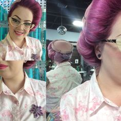 mrsnikkilynn- beautiful updo Victory Rolls, Pin Up Hair, Vintage Hairstyles, Updos, Hair Styles, Beautiful, Beauty, Fashion, Up Dos