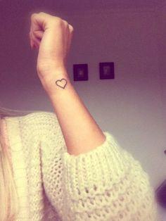 Love Heart Tattoo Heart Wrist Tattoos Small Tattoo Heart Tattoos On . Love Heart Tattoo, Small Heart Tattoos, Dainty Tattoos, Small Wrist Tattoos, Mini Tattoos, Trendy Tattoos, Body Art Tattoos, New Tattoos, Cool Tattoos