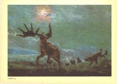 Irish Elk or Giant Deer Vintage Print by CarambasVintage, $16.00