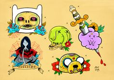 TechArtGeek • Themed Tattoo Flash sheets based on pop culture....