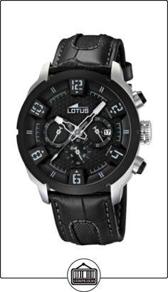 37fb04f81f61 Lotus 15787 6 - Reloj analógico de cuarzo para hombre con correa de piel