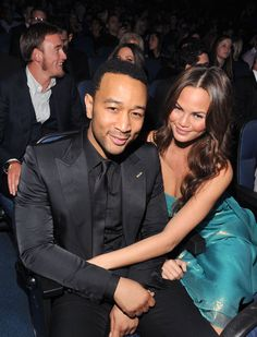 JohnLegend and fiancé ChrissyTeigen