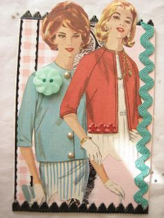 Vintage ATC with a Button