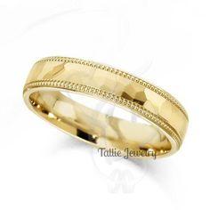 Mens 10K Yellow Gold Wedding Bands,Womens Wedding Rings,Matching Wedding Rings,Promise Rings,Unisex Yellow Gold Wedding Rings by TallieJewelry on Etsy