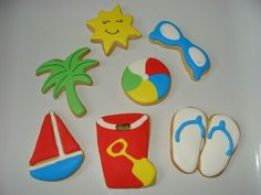 Summer themed cookies.