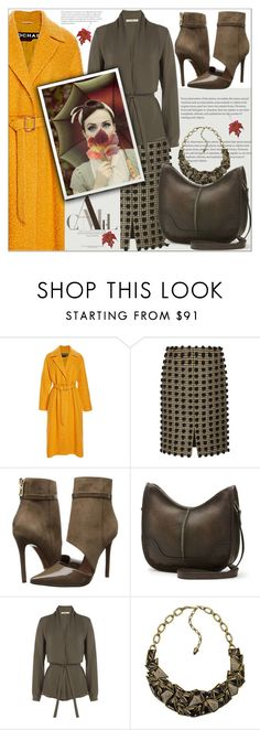 """My orange love in fall"" by sweta-gupta ❤ liked on Polyvore featuring Rochas, Sonia Rykiel, Schutz, Frye, Etro, Kenneth Jay Lane, Fall and orange"